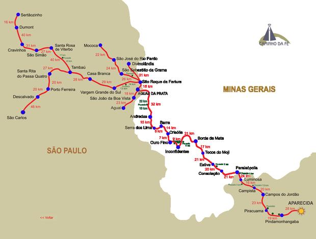 Mapa por onde vão percorrer os ciclistas (Foto: Arquivo / Divulgação)