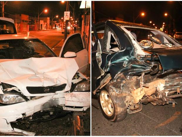 Motorista bêbado bateu na traseira de carro estacionado em São Carlos (Foto: Maurício Duch)