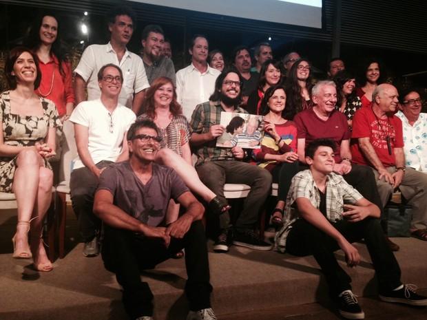 Elenco de A Grande Família se reúne no Projac (Foto: Daniel Silveira / G1)