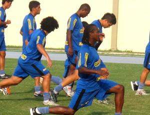 Andrezinho treino Botafogo (Foto: André Gustavo /globoesporte.com)