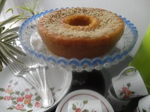 bolo de maracujá com castanha do Pará