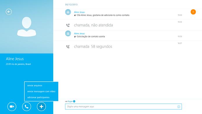 Skype permite envio de arquivos (Foto: Reprodução/Thiago Barros)