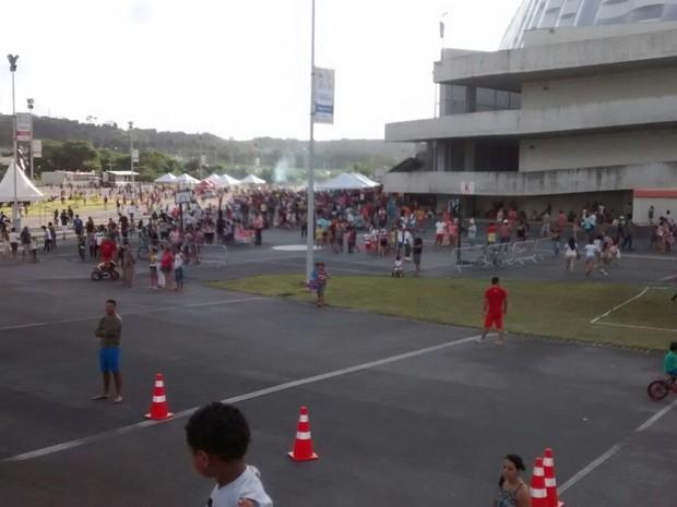 Domingo na Arena tem atividades para crianças e adultos (Foto: Camila Torres/ TV Globo)