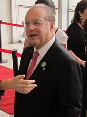 Paulo Maluf no dia da diplomação como deputado (Foto: Roney Domingos/G1)