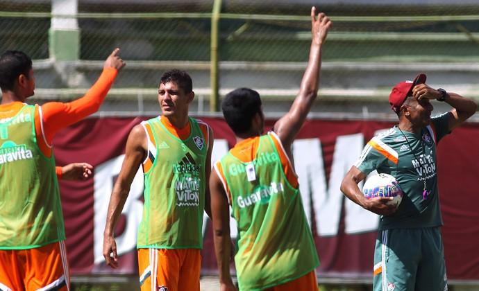 Edson e Cristovão Borges Treino Fluminense (Foto: Nelson Perez / Fluminense FC)
