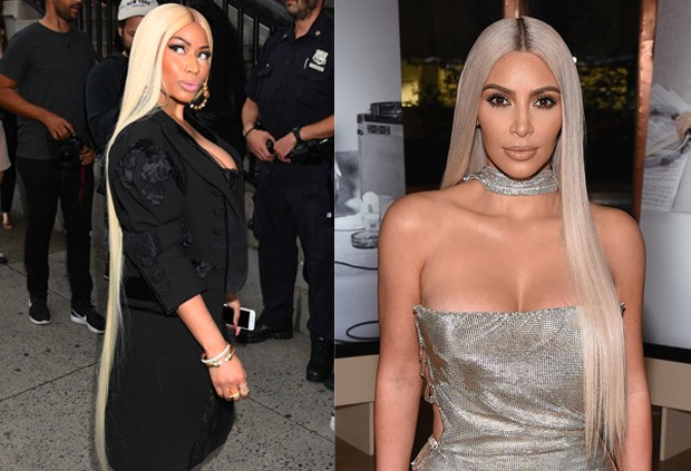 Nicki Minaj e Kim Kardashian (Foto: BackGrid e Getty Images)