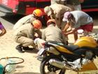 Paty do Alferes: homem se fere ao cair de moto que estava sendo rebocada