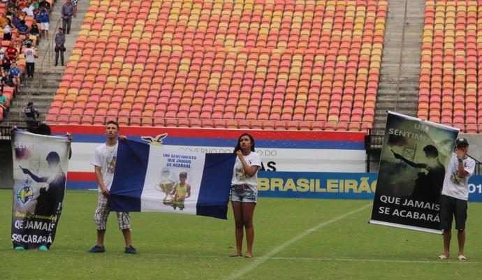 Nacional-AM homenagem a torcedor (Foto: Isabella Pina)