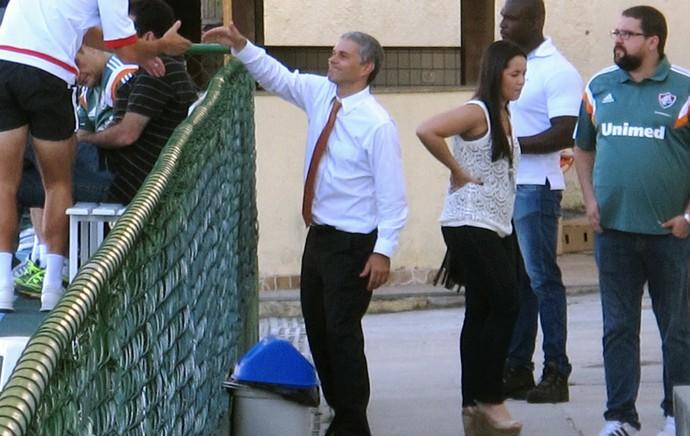 Presidente Peter no treino do Fluminense (Foto: Marcelo Hazan)