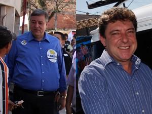 Doutor Aidan Ravin (PTB) e Carlos Grana (PT) (Foto: Divulgação/Campanha)