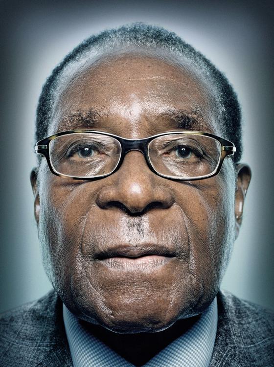 Robert Mugabe presidente do Zimbábue (Foto:  Platon/Trunk Archive)