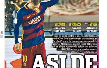 """BLOG: """"Olé"""" destaca pedido de desculpas de Messi após gol sobre o River no Mundial"""