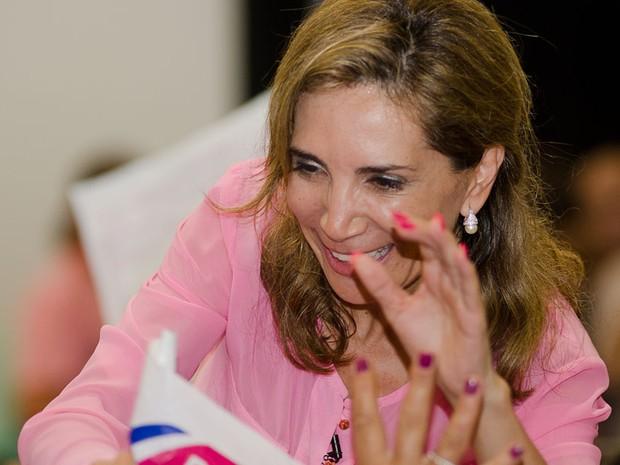 Dárcy Vera celebra vitória nas urnas em Ribeirão Preto, SP (Foto: Érico Andrade/G1)