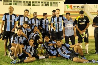 Grêmio Cassimiro é o campeão do Campeonato de Futebol Amador de Petrolina (Foto: Carlos Humberto/Agência CH)