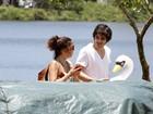 Fiuk e Lilia Cabral gravam juntos na Lagoa, no Rio de Janeiro