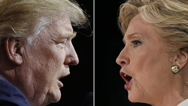 Donald Trump e Hillary Clinton (Foto: AFP)