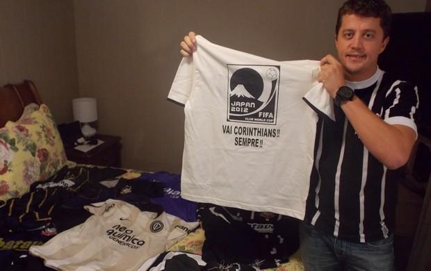 Thiago Spehar diz que vai vestir camisa do Corinthians até para dormir no Japão (Foto: Filipe Rodrigues/ Globoesporte.com)