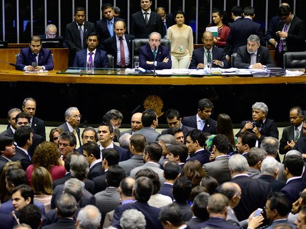 Eduardo Cunha presidente sessão na Câmara dos Deputados nesta quinta (19) (Foto: Gustavo Lima/Câmara dos Deputados)