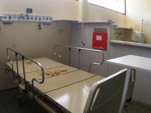 Cinco leitos estão em desuso na UTI do Hcal (Foto: MP/Divulgação)