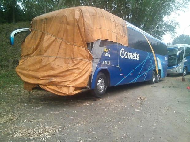 Passageiro de ônibus morreu em acidente na BR-393, em Barra do Piraí (Foto: Valéria Morgado/Arquivo Pessoal)