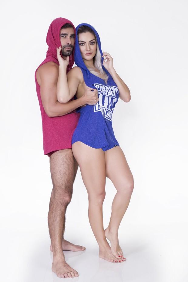 Laura Keller posa com o marido Jorge Sousa (Foto: Marcos Mello / Divulgação )