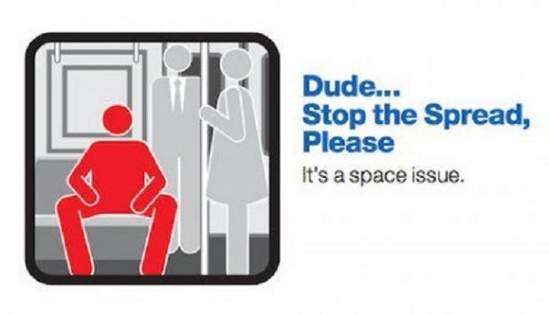 """Campanha em Nova York: """"Cara…pare de abrir as pernas, por favor"""" (Foto: Divulgação)"""