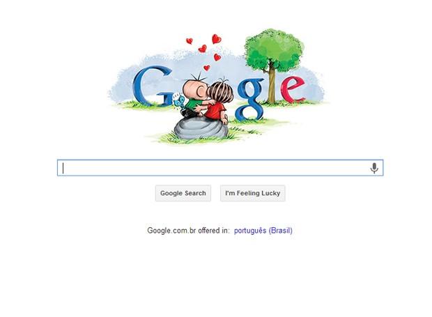 Doodle do Google muda em homenagem ao Dia dos Namorados. (Foto: Reprodução/Google)