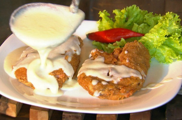 Nosso Campo ensina a fazer uma receita de tilápia empanada com recheio de presunto e queijo (Foto: Reprodução/TV TEM)