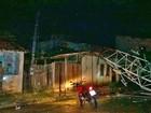 Torre de rádio e televisão cai em cima de casa no município de Mocajuba