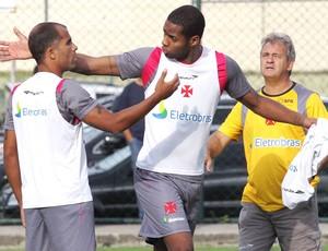 Felipe e Dedé, Treino do Vasco (Foto: Cezar Loureiro / Agência O Globo)