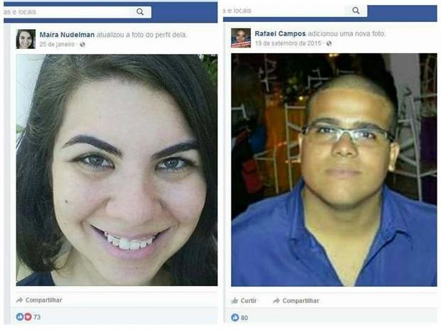 Casal foi encontrado abraçado dentro do box do banheiro (Foto: Reprodução / Facebook)