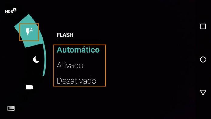 Recurso de flash no Moto G 3 (Foto: Reprodução/Barbara Mannara)