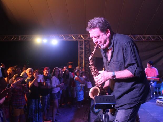 Músico Leo Gandelman foi a atração principal da primeira noite de festival  (Foto: Ellyo Teixeira/G1)