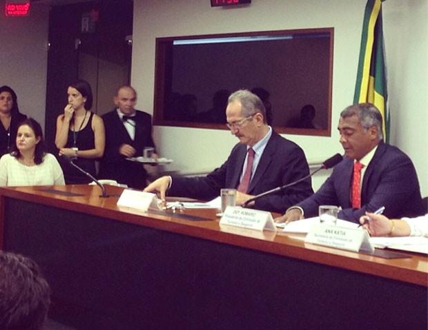 Romário e Aldo Rebelo ministro (Foto: Reprodução / Instagram)