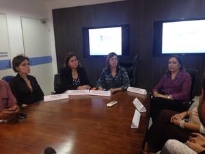 Secretaria de Saude de Pernambuco divulgou novos dados sobre a microcefalia nesta terça (24) (Foto: Maria Luiza Veiga/G1)