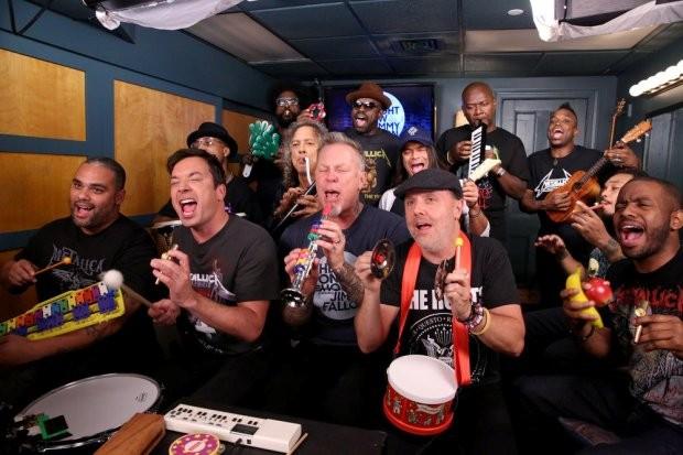 Jimmy Fallon, The Roots e Metallica (Foto: Reprodução/NBC)