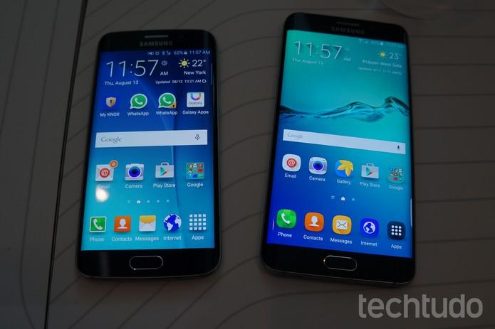 Galaxy Note 5 e GalAXY S6 Edge Plus (Foto: Thássius Veloso/TechTudo)
