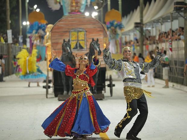 Estação Primeira do Areal é tricampeã do carnaval de Pelotas (Foto: Felipe Freitas/Divulgação/Prefeitura de Pelotas)