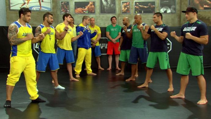Semifinalistas do TUF Brasil 3 se encaram (Foto: Reprodução/TV Globo)