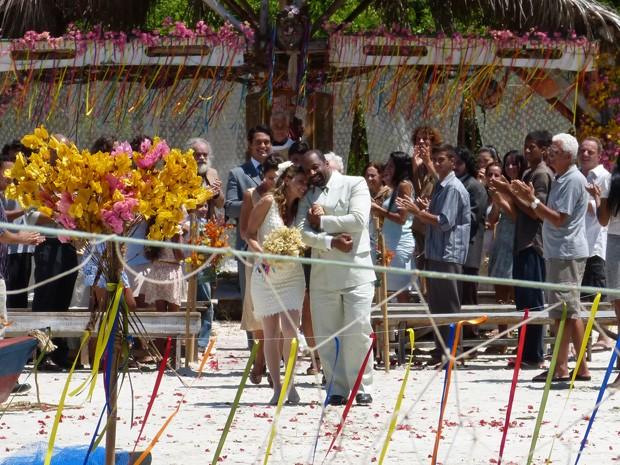 Casamento de Doralice e Quirino (Foto: Vila dos Ventos / TV Globo)