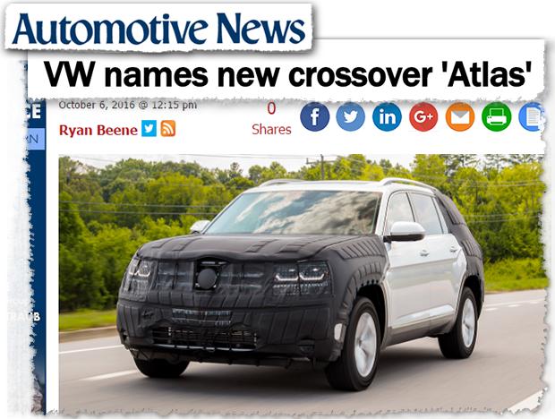 Novo SUV da Volkswagen flagrado pelo Automotive News (Foto: Reprodução/Automotive News)