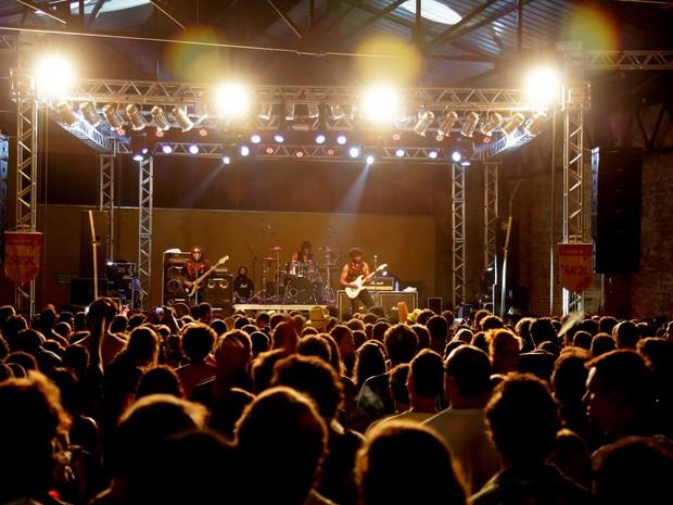 A Banda Death, dos Estados Unidos, foi um dos destaques da programação do Rock Carnival de Curitiba (Foto: Cido Marques/ Divulgação/ FCC)
