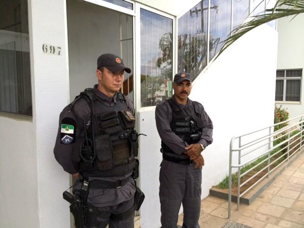 Secretaria de Tributação de Ceará-Mirim foi um dos alvos do cumprimento de mandados de busca e apreensão (Foto: Fernanda Zauli/G1)
