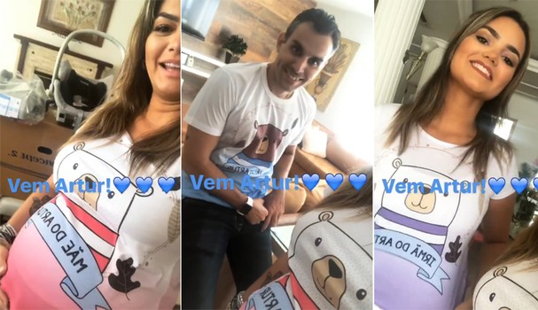 Kelly Key e família usam camisetas comemorativas personalizadas (Foto: Reprodução/Instagram)