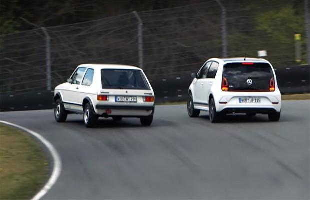 Marca uniu o up! GTI e Golf GTI em vídeo comparativo (Foto: Reprodução)