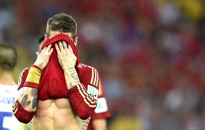 Sergio Ramos derrota Espanha  (Foto: AFP)