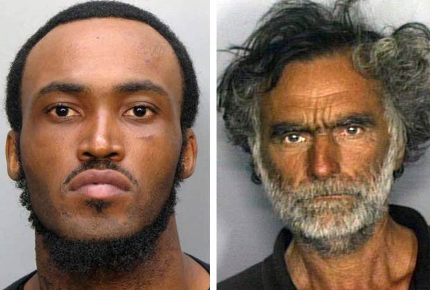 Rudy Eugene e sua vítima, Ronald (Foto: Reuters)