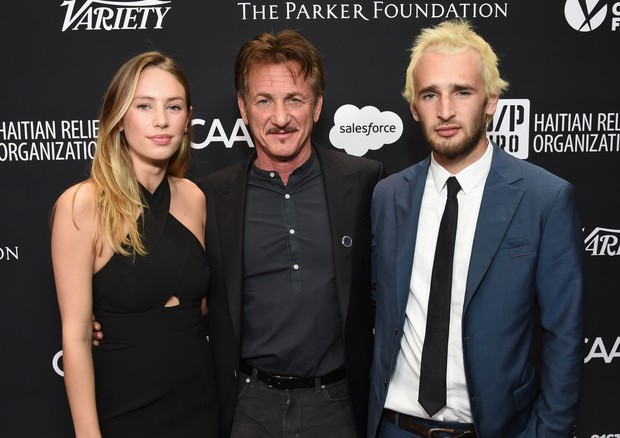 Dylan Penn, Sean Penn e Hopper Penn (Foto: Getty Images)