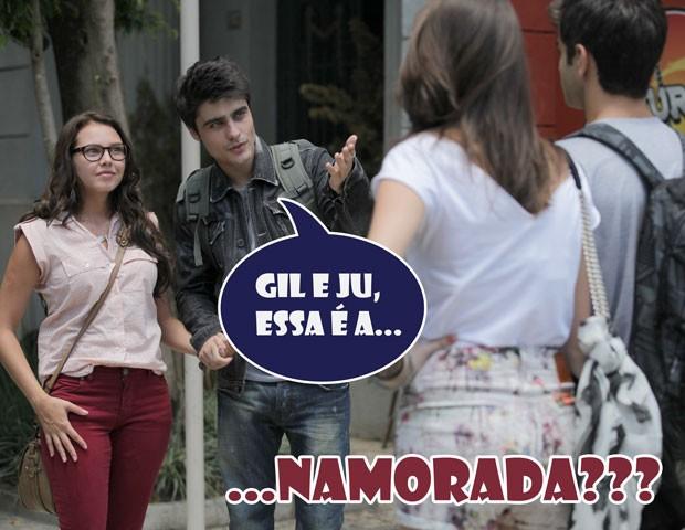 Ihhhh, será que a Ju vai correr e contar para a Lia? (Foto: Malhação / TV Globo)