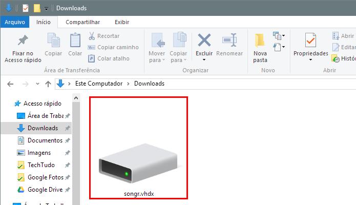 Abra a imagem de disco para instalar o Songr (Foto: Reprodução/Paulo Alves)